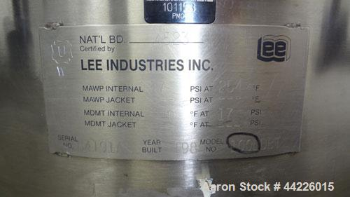 Used- 26.4 Gallon Stainless Steel Lee Industries Pressure Tank, Model 100LDBT