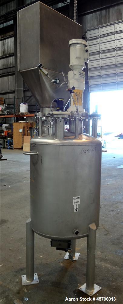 "Used- Lee Industries Pressure Tank, 117 Gallon, Model 117DBT, 316 Stainless Steel, Vertical. Approximate 30"" diameter x 35"" ..."