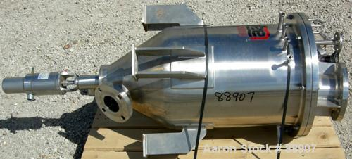 """USED: Lee tank, 25 gallon, 304 stainless steel, vertical. 18"""" diameter x 22"""" straight side x 12"""" cone. Dish bolt on top. Off..."""