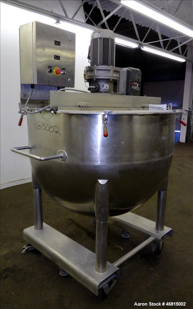 Used- Lee Industries Single Motion Mixing Tank, Model 250A, 250 Gallon