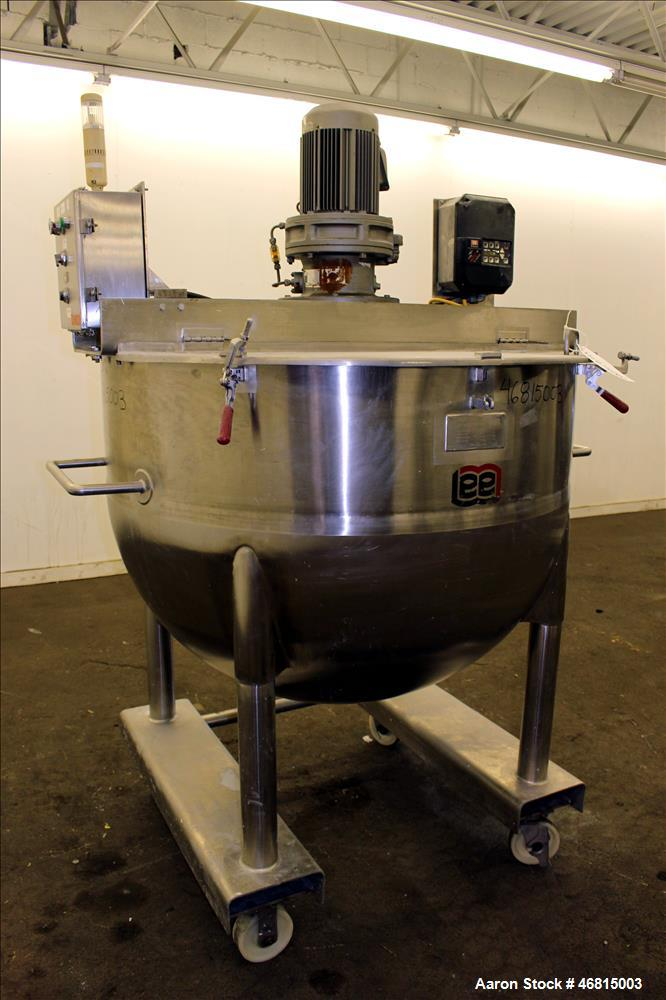 Used- Lee Industries Single Motion Mixing Tank, Model 250A7S, 250 Gallon