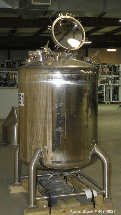 "Used- Lee IndustriesPolished Pressure Tank,Model 250DBT,250 gallon,316 stainless steel, vertical.40"" diameter x42"" str..."