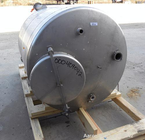 """Used- Lee Industries Tank, Model 300DBT, 300 Gallon, 316 Stainless Steel, Vertical. 44"""" diameter x 48"""" straight side, dished..."""
