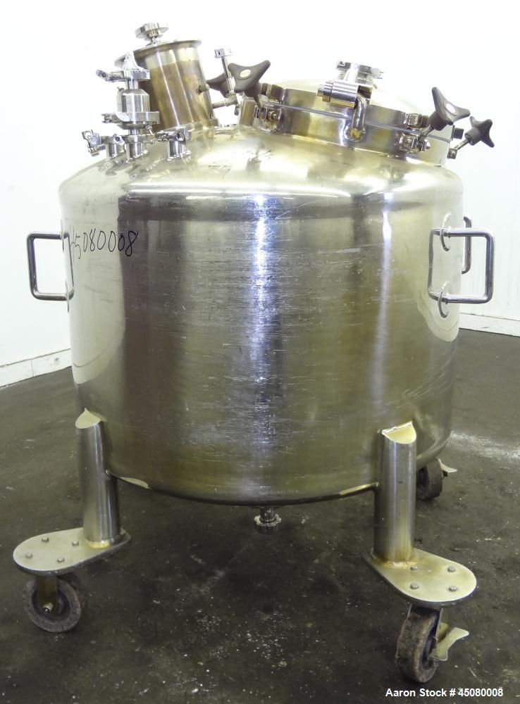 "Used- Lee Industries Pressure Tank, 500 Liter (132 Gallon), Model 500L DBT, 316L Stainless Steel, Vertical. 40"" Diameter x 2..."