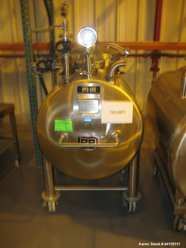 Used- 105 Gallon Stainless Steel Lee Industries Portable Holding Tank/Pressure V