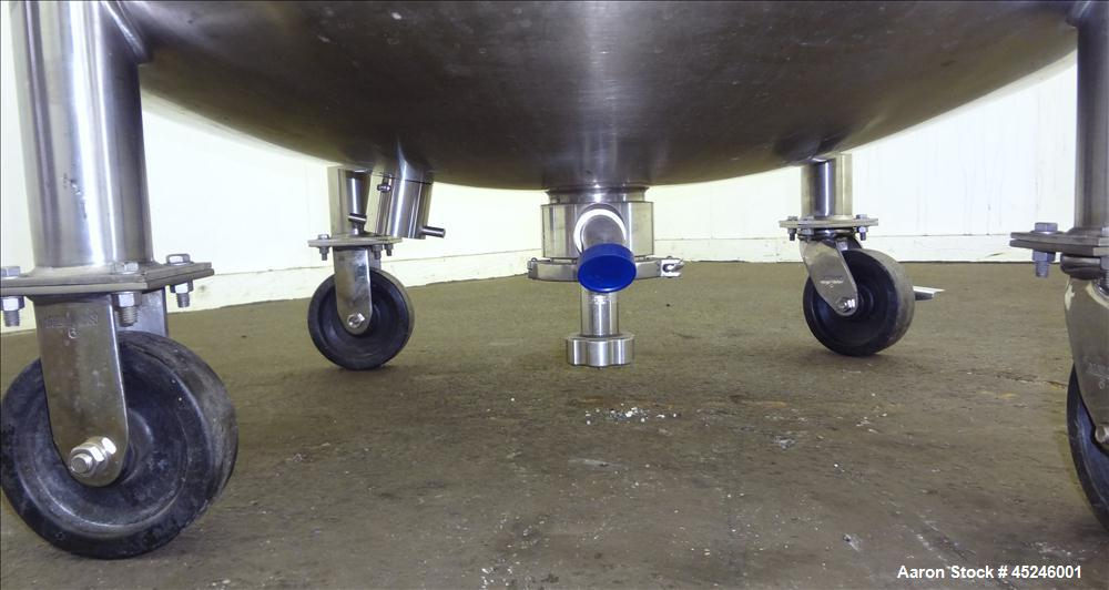 Used- 140 Gallon Stainless Steel Pure-Flo MPC Pressure Tank