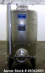 Used- Marchiso Jacketed Tank, 316 Stainless Steel, Approximate 264 Gallon (1,000
