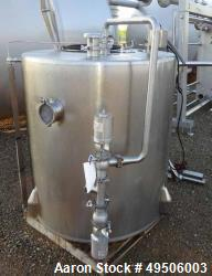 Used- Tank, Approximate 300 gallon, Stainless Steel, Vertical.
