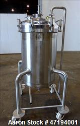 Used- Cherry Burrell Portable Tank, 68.5 Gallon (250 liters), 316 Stainless Stee