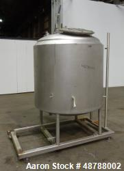 Used- Cherry-Burrell Jacketed Tank, Approximately 350 Gallon, 316 Stainless Stee