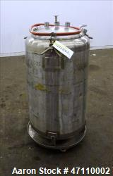 "Letsch Pressure Tank, 60 Gallon Capacity, 316L Stainless Steel, Vertical. Approximate 23"" diameter ..."
