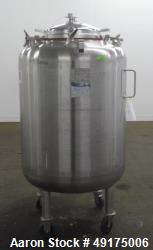 Used- Mueller Pressure Tank, 158.5 Gallon (600 Liter), 316L Stainless Steel