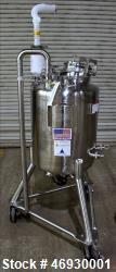 Used- Pure-Flo Precision Pressure Tank, 100 Liter (26.4 Gallon), 316L Stainless