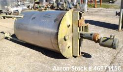 "Used- Thibs Machine & Welding Tank, 438 Gallon, Stainless Steel, Vertical. Approximate 42"" diameter x 69"" straight side, fla..."