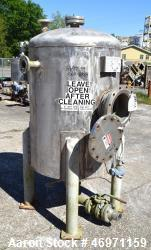 "Used- Thibs Machine & Welding Tank, 202 Gallon, Stainless Steel, Vertical. Approximate 36"" diameter x 48"" straight side, dis..."