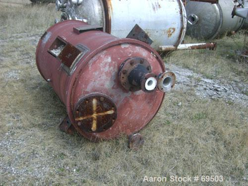 """Used- Missouri Boiler Pressure Tank, 250 Gallon, 316 Stainless Steel, Vertical. 36'' diameter x 56"""" straight side. Dished to..."""