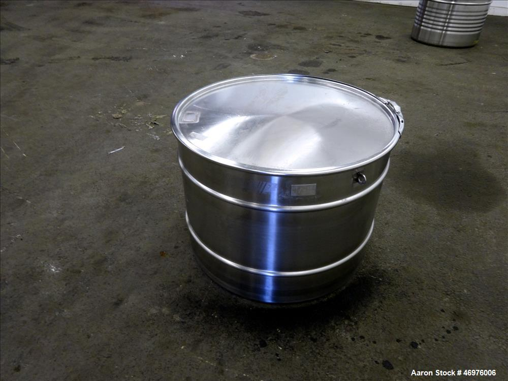 Used- MO Drum, 100 liters (26.4 Gallons), 304 Stainless Steel, Vertical.