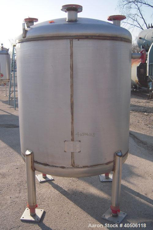 "Unused- Mueller Pressure Tank, 350 Gallon, Model ""F"", 304L stainless steel, vertical. 48"" diameter 40"" straight side, dished..."