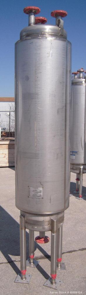 "Unused- Mueller Pressure Tank, 50 Gallon, Model ""F"", 304L stainless steel, vertical. 17 1/2"" diameter, 68"" straight side, di..."