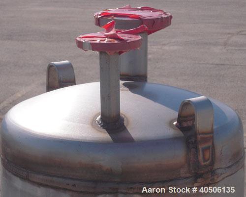 "Unused- Mueller Pressure Tank, 50 Gallon, Model ""F"", 304L stainless steel, vertical. 17 1/2"" diameter, 47"" straight side, di..."