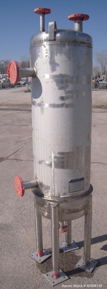 """Unused- Mueller Pressure Tank, 50 Gallon, Model """"F"""", 304L stainless steel, vertical. 17 1/2"""" diameter 47"""" straight side, dis..."""