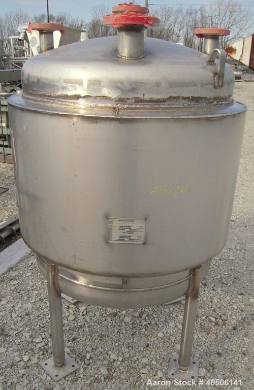 "Unused- Mueller Pressure Tank, 100 Gallon, Model ""F"", 304L Stainless steel, Vertical. 36"" diameter 30"" straight side, dished..."