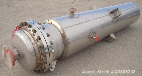 "Unused- Mueller Flash Drum Pressure Tank, 200 gallon, model ""F"", 304L stainless steel, vertical. 24"" diameter x 138"" straigh..."