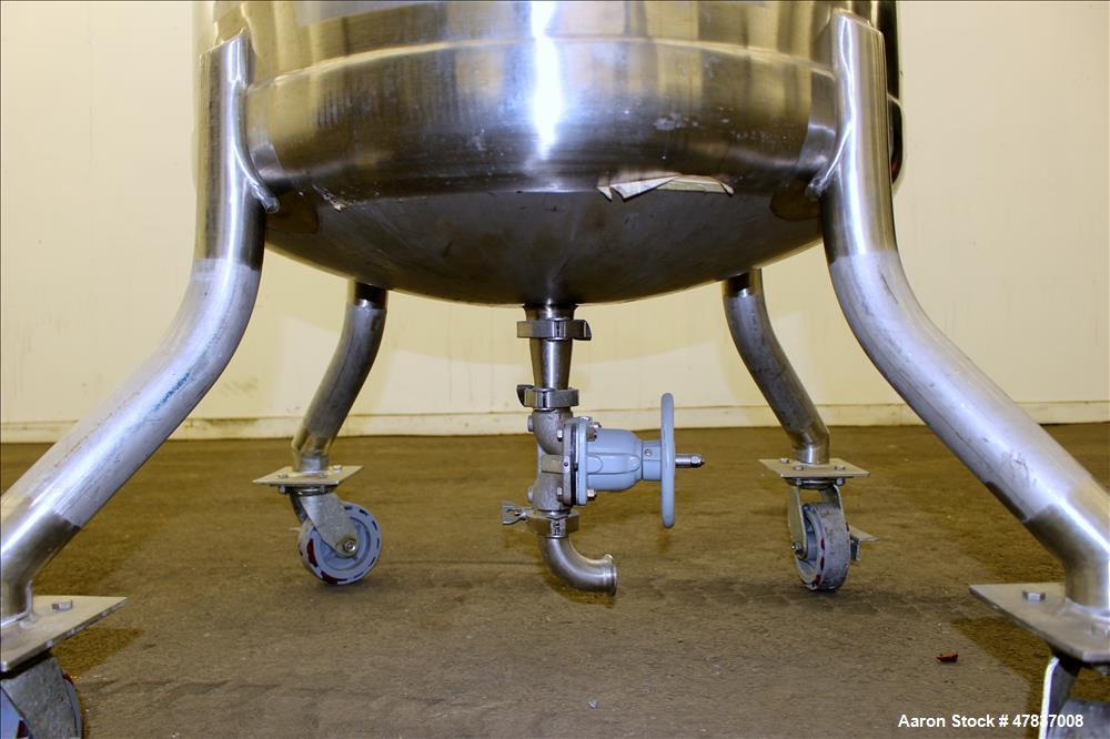 "Used- Mueller Pressure Tank, 430 Liter (113 Gallon), Model F, 316L Stainless Steel, Vertical. 30"" Diameter x 34"" straight si..."