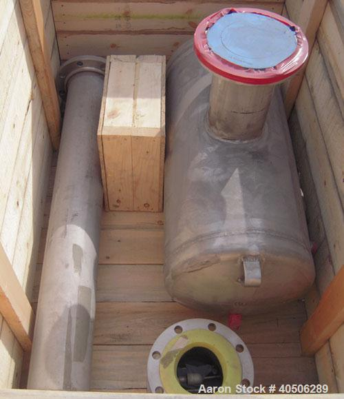 "Unused- Mueller Tank, 25 Gallon, Model ""H"", 304 Stainless steel, Horizontal. Approximately 14'' diameter x 30'' straight sid..."
