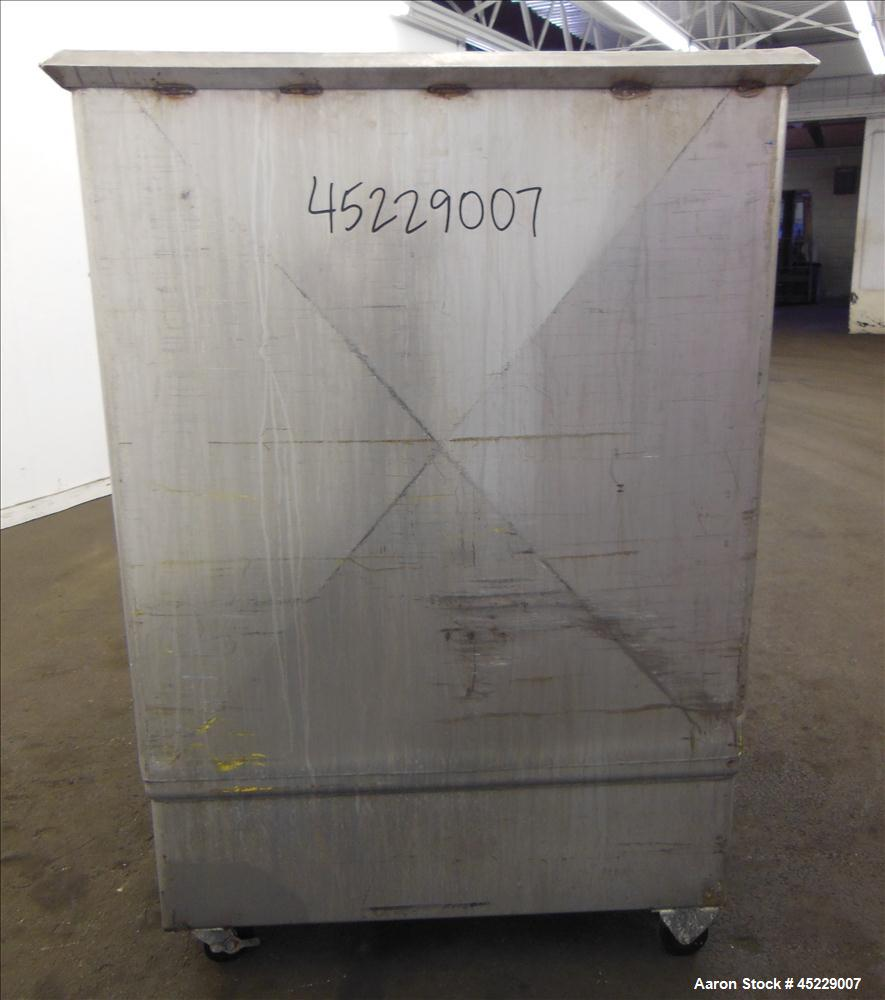 """Used- Mueller Porta Tank, Approximate 450 Gallon, 316 Stainless Steel. 51"""" long x 44"""" wide x 48"""" straight side, open top, no..."""