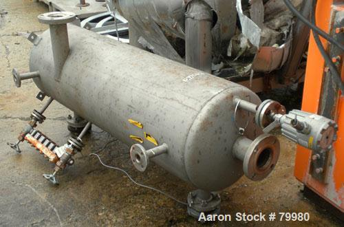 """Used- National Pipe Bending Pressure Tank, 40 Gallon, 316L Stainless Steel, Vertical. 18"""" diameter x 54"""" straight side, dish..."""