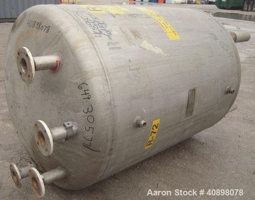"""Used- Niles Steel Tank Company Pressure Tank, 250 gallon, 316 stainless steel, vertical. 40"""" diameter x 48"""" straight side. D..."""