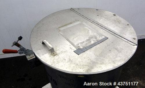 "Used- Water Cooling Corporation Tank, 100 Gallon, 304 Stainless Steel, Vertical. Approximate 31"" diameter x 34"" straight sid..."