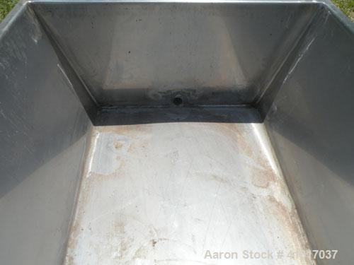 """Used- Trough/Tank,150 Gallon, 316 Stainless Steel Horizontal. Trough measures approximately 94"""" long x 24"""" wide x 16"""" deep...."""