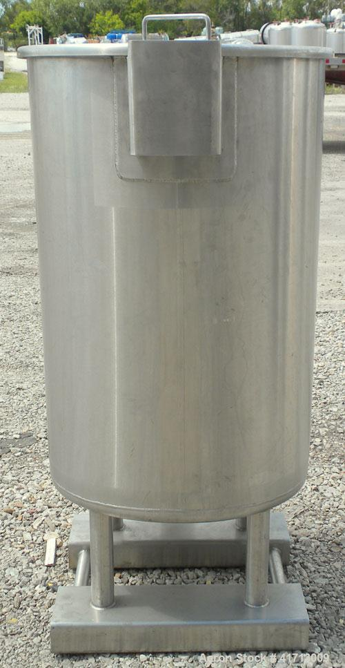 "Used- Lewis Process Systems Tank, 60 Gallon, 304 Stainless Steel, Vertical. 22"" diameter x 36"" straight side. Flat open top ..."