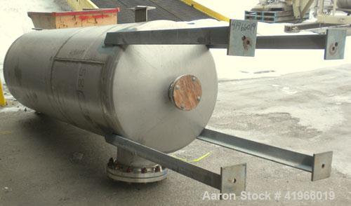"""Unused- DCR Construction Pressure Tank, 350 Gallon, 304 Stainless Steel, Vertical. 36"""" diameter x 96"""" straight side, dish to..."""
