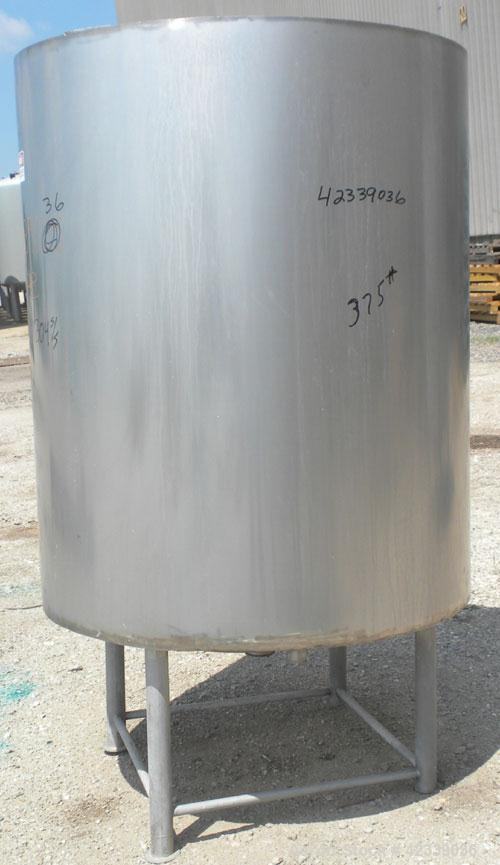 """Used- Tank, Approximately 450 Gallon, 304 Stainless Steel, Insulated, Vertical. 45"""" Diameter x 60"""" straight side, open top, ..."""