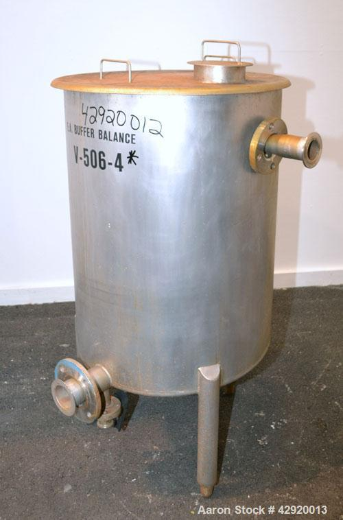 Tank, 65 Gallon, 304 Stainless Steel, Vertical. 24-1/2'' Diameter x 33'' straight side. Flat open top with a 1 piece cover, ...