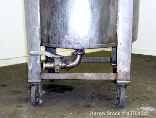 """Used- Tank, 100 Gallon, 304 Stainless Steel, Vertical. 30"""" Diameter x 34"""" straight side. Dished bolt-on top with an 8"""" hand ..."""