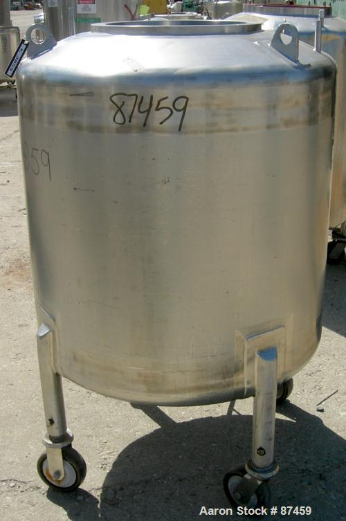 """Used- Northland Stainless Pressure Tank, 500 Liter (132 Gallon), 316 Stainless Steel, Vertical. 34"""" Diameter x 32"""" straight ..."""