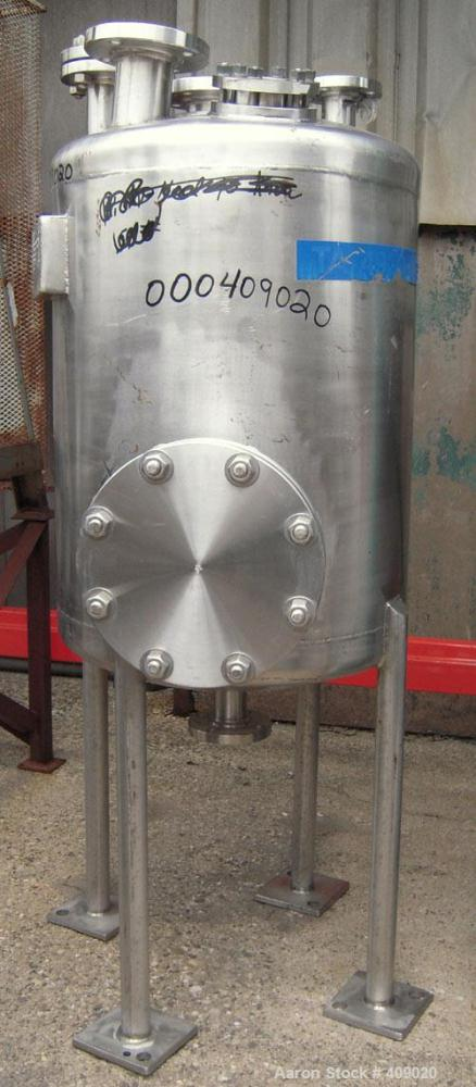 """Used- Northland Stainless Pressure Tank, 55 Gallon, 316L Stainless Steel, Vertical. 24"""" diameter x 26 1/2"""" straight side, di..."""
