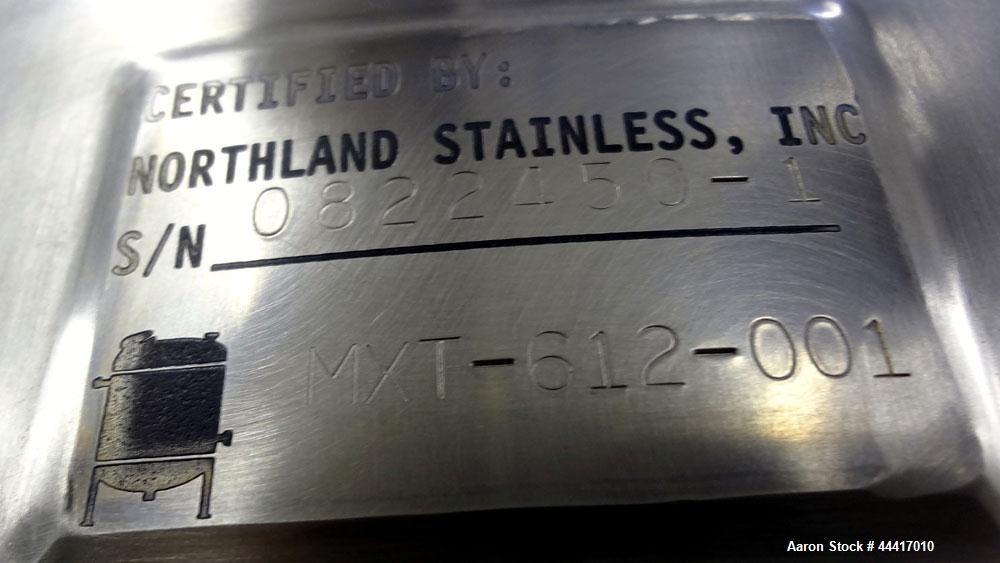 """Unused- Northland Stainless Tank, 750 Liter (198 Gallon), 316 L Stainless Steel, Vertical.  38"""" Diameter x 45"""" straight side..."""