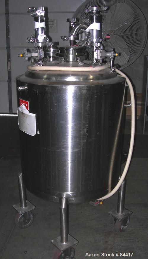 """USED: Northland Stainless pressure tank, 60 gallon, 316 stainless steel, polished internal. 24"""" diameter x 32"""" straight side..."""