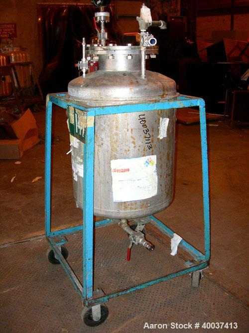 Used- 55 Gallon Stainless Steel O.G. Kelley Co Pressure Tank