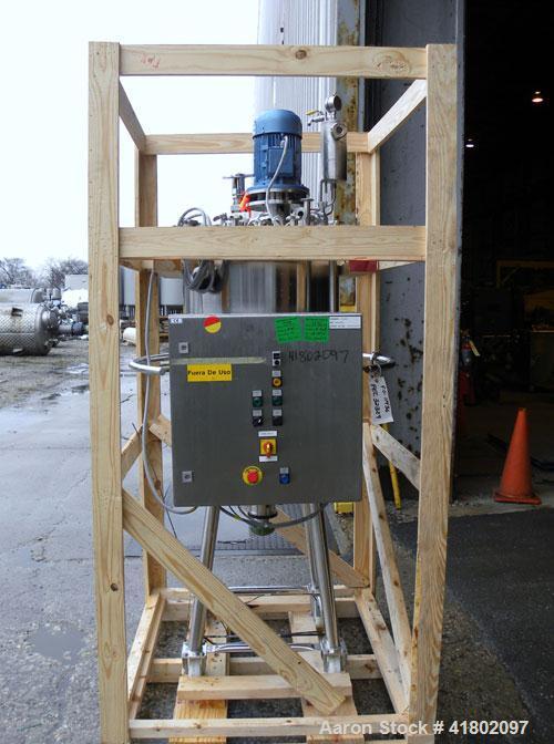 Used- Packo Inox Pressure Tank, 52.8 gallon (200 liter), 316 stainless steel, vertical. Approximate 20'' diameter x 34'' str...