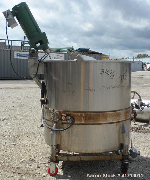 "Used- Perma San Tank, 170 Gallon, Model 170 GAL OVS, 316 Stainless Steel, Vertical.  38 1/2"" diameter x 35 1/2"" straight sid..."