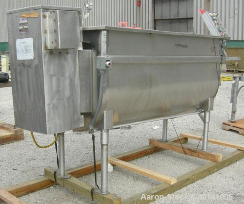 "Used- Perma-San Trough Style Tank, 300 gallon, 316 stainless steel, horizontal. ""U"" shaped trough 32'' wide x 74'' long x 35..."