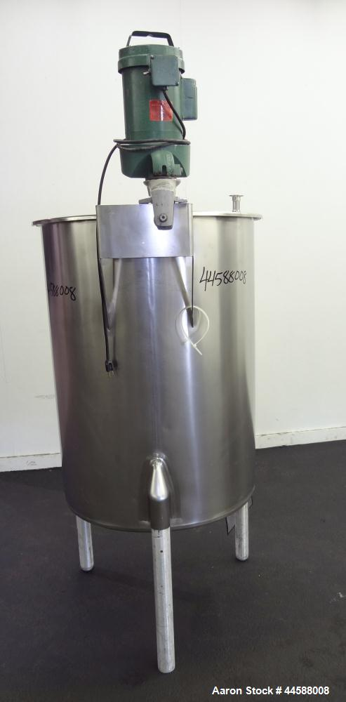 """Used- Perma-San Tank, 120 Gallons, Model OVS, 316 Stainless Steel, Vertical. Approximately 30"""" diameter x 41"""" straight side,..."""