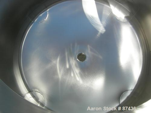 """USED: Perma San tank, 80 gallon, 316 stainless steel, vertical. 32"""" diameter x 22"""" straight side, dish top and bottom. Openi..."""