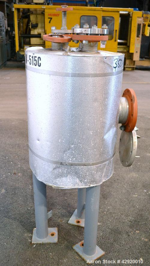 Used- Precision Stainless Pressure Tank, 20 Gallon, 304L Stainless Steel, Vertical. 17-1/2'' Diameter x 20'' straight side, ...